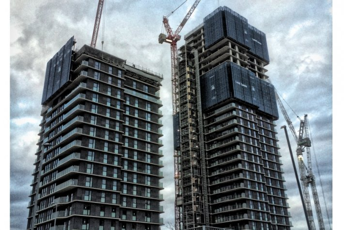 Glasshouse Gardens, two residential towers under construction